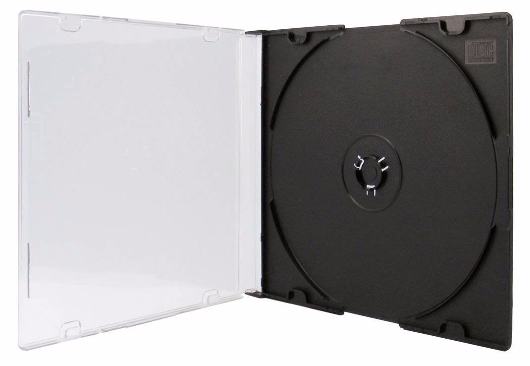 100 Black Single Slimline Jewel 5 2mm Spine Cd Cases