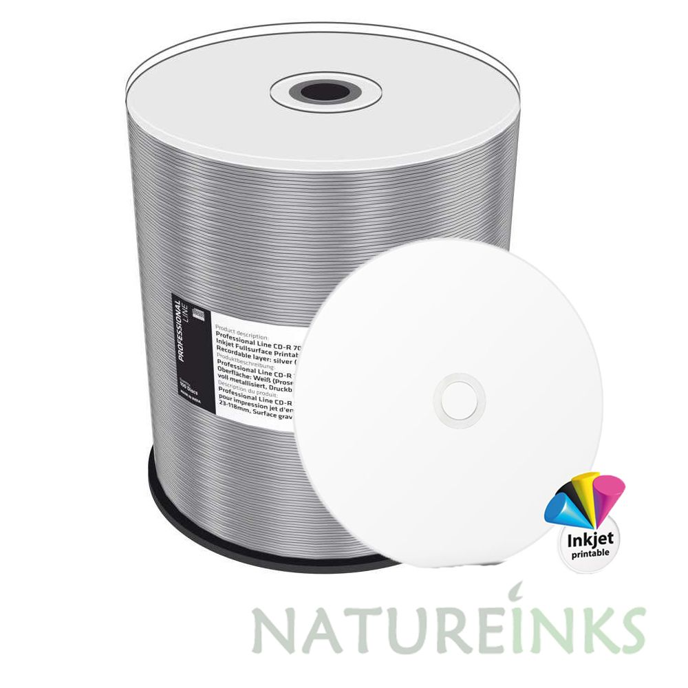 photograph relating to Printable Blank Cds identify 100 MediaRange Knowledgeable Line White printable Blank CD CD-R 700MB 80min 52x diamond dye MRPL505-C